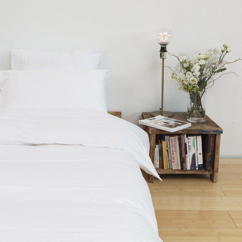 Cotton Sateen Lace Trim Pillowcase Snow White 7