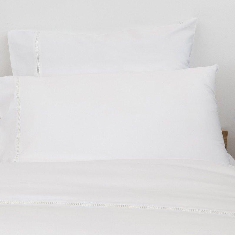 Cotton Sateen Lace Trim Pillowcase Snow White 8