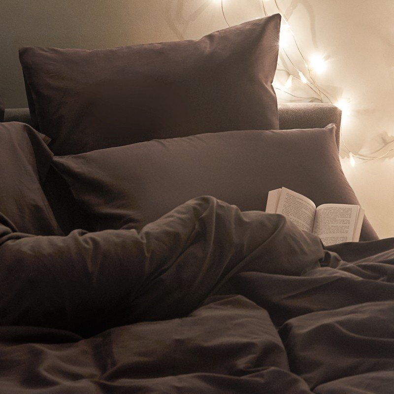 Cotton Sateen Pillowcase Anthracite 4