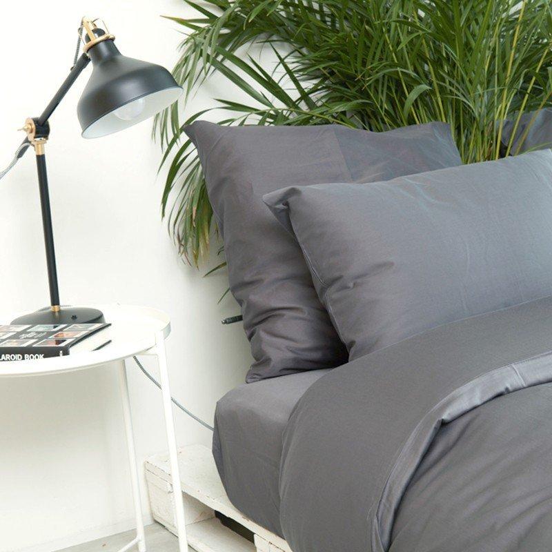 Cotton Sateen Pillowcase Anthracite 5