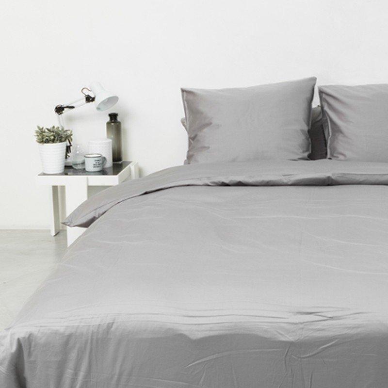 Cotton Sateen Pillowcase Stone Grey 5