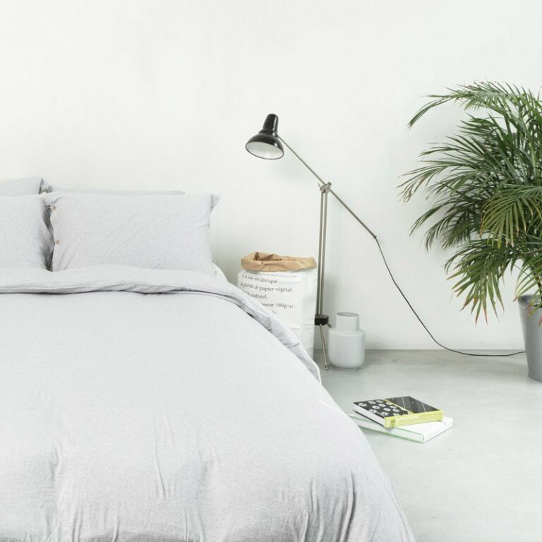Duvet Cover Premium Jersey Light Grey Melange 10