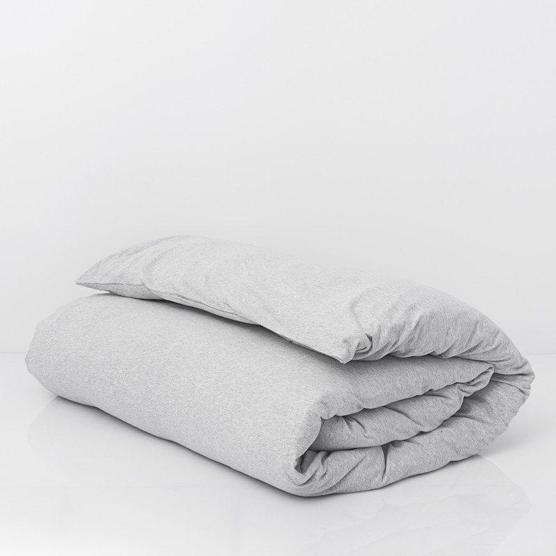 Duvet Cover Premium Jersey Light Grey Melange 3