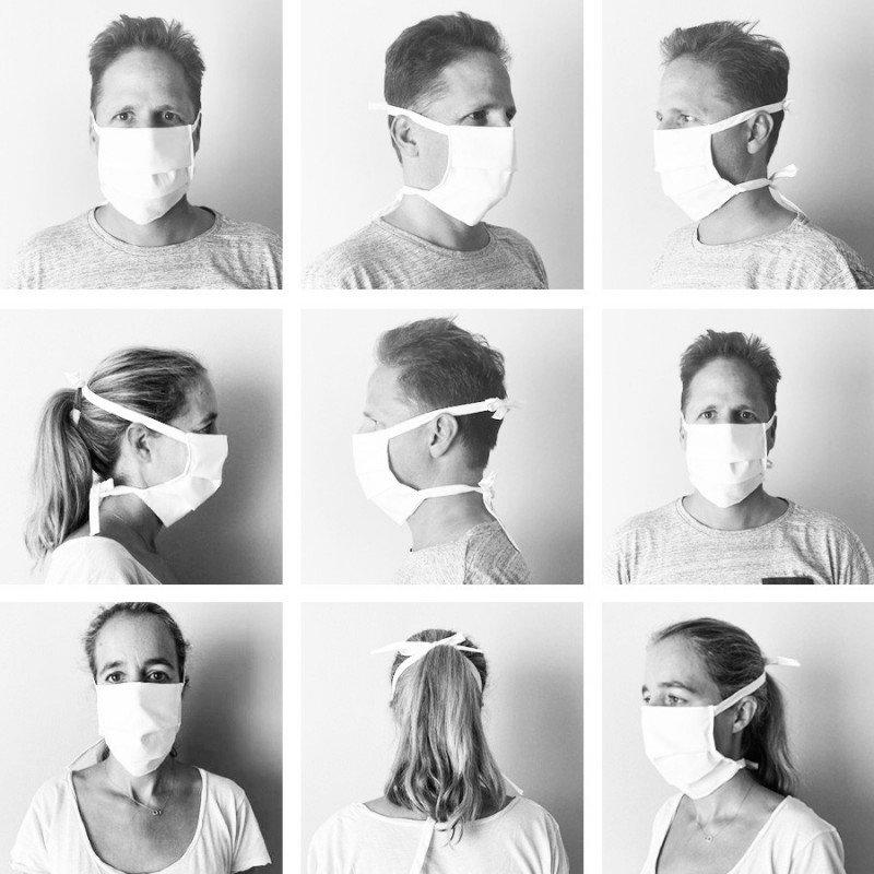 Schutzmaske mit Filtertasche 2