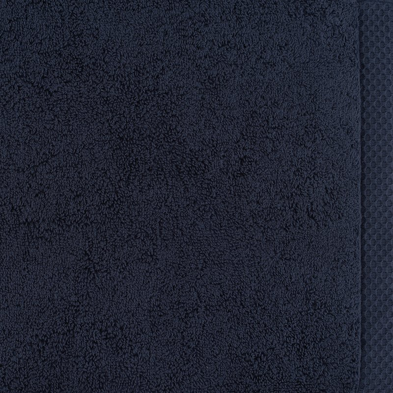 luxury bath linen closeup navy 1